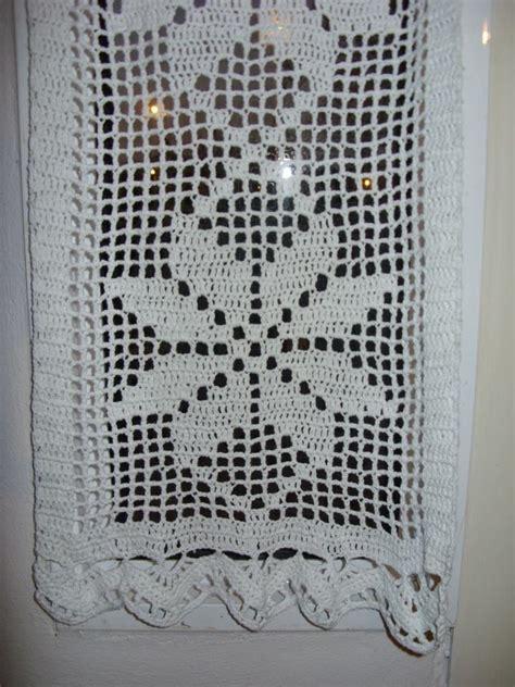 cortina  visillo tejida al crochet  en mercadolibre cortinas crochet curtains