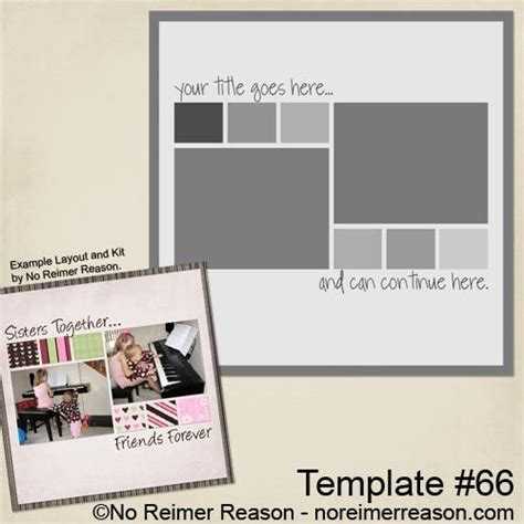 Free Printable Scrapbook Layout Templates     to my