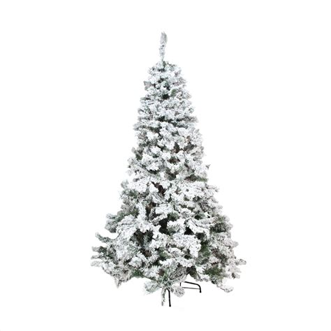 4 5 heavily flocked pine medium artificial christmas tree