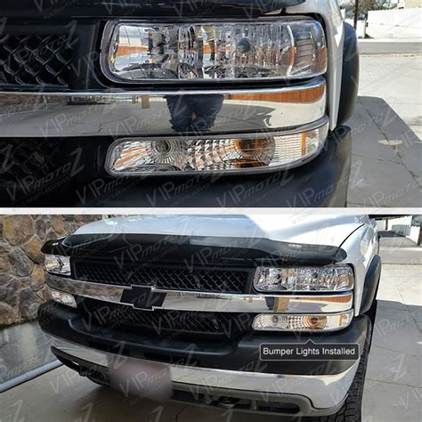 1999 2002 silverado suburban chrome front bumper signal parking light l ebay