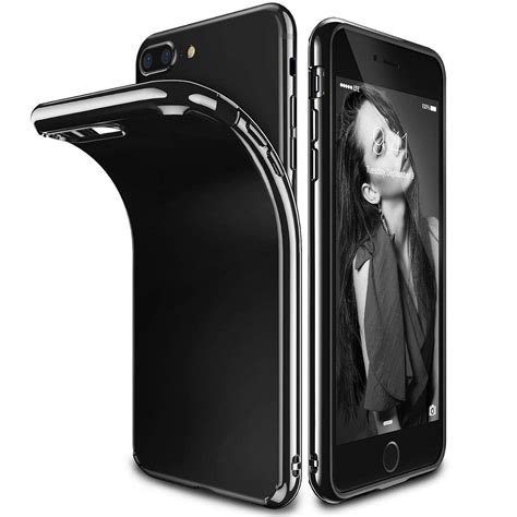 Ultra Thin Tpu Slim Jet For Iphone 7 Black ultra thin shockproof jelly tpu jet black cover apple