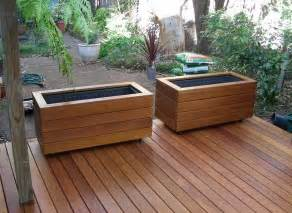 deck planter box diy home landscaping