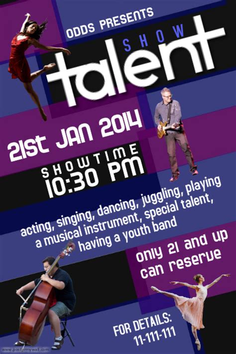 Talent Show Flyer Template Postermywall Show Template