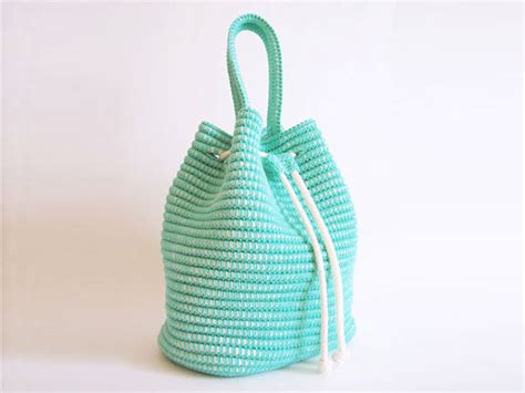 pattern crochet string bag drawstring bag crochet pattern allcrochetpatterns net