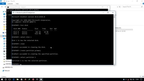 format hdd lewat cmd tutorial format flash disk lewat command prompt cmd youtube