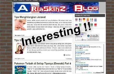 membuat blogspot menjadi com gratis cara membuat blog menjadi menarik ariaskinz