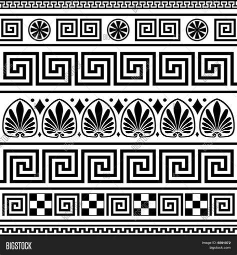 pattern greek vector set vector greek borders vector photo bigstock