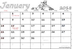 Calendar 2018 January Uk January 2018 Monthly Calendar Blank Us Uk Free