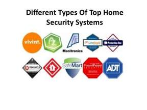 different types of top home security systems