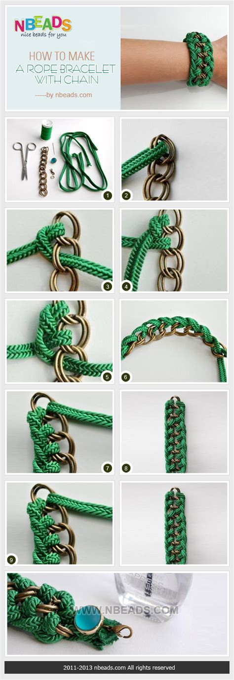 how to make rope jewelry how to make a rope bracelet with chain nbeads