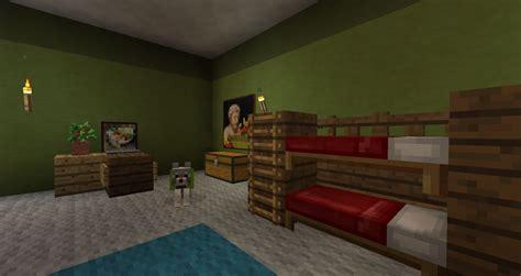 Bunk Bed In Minecraft Bunk Bed Minecraft Pe Images
