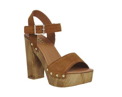 sandals wood womens office amazonian mock wood sandals cow suede heels