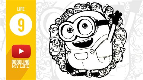 doodle minion 09 drawing doodles minion banana