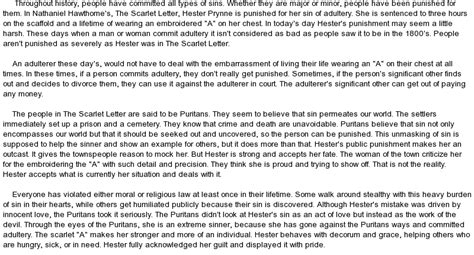 theme of scarlet letter sin sin in the scarlet letter at essaypedia com