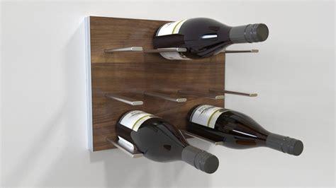 modern wine rack wall mount stact modular wall mounted wine rack walnut by 2012 icff