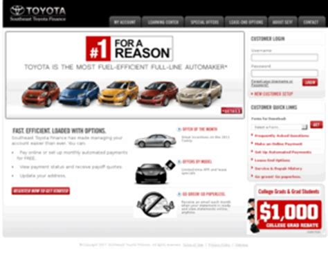 Southeast Toyota Finance Pay Bill My Account Southeast Toyota Finance Home Autos Post