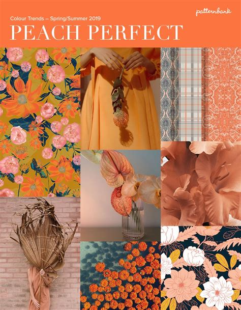 patternbank spring summer 2015 peach perfect colour trends spring summer 2019