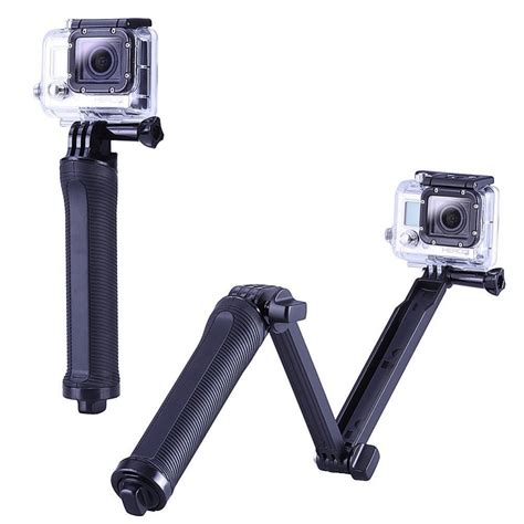 Monopod 3 Way Gopro New Gopro Accessories Collapsible 3 Way Monopod Mount Grip Extension Arm Tripod For Gopro