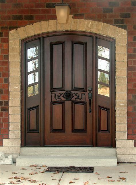 House Exterior Doors with Wood Entry Doors Applied For Home Exterior Design Traba Homes
