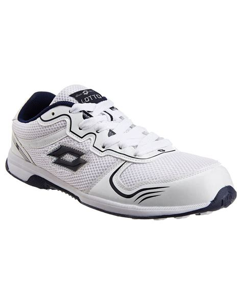 lotto vigor white sports shoes price in india buy lotto
