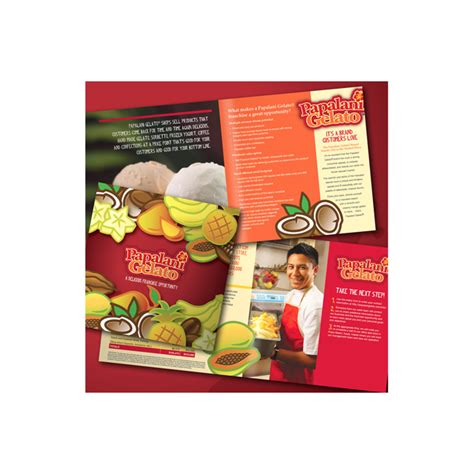 Restaurant Caf 233 Advertising Franchise Brochure Templates