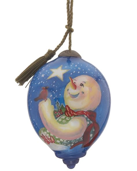 frosty magic oval personalized ornament