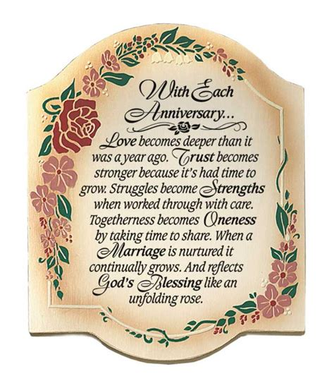 Wedding Anniversary Prayer by Wedding Anniversary Prayer Plaque Sign Gift