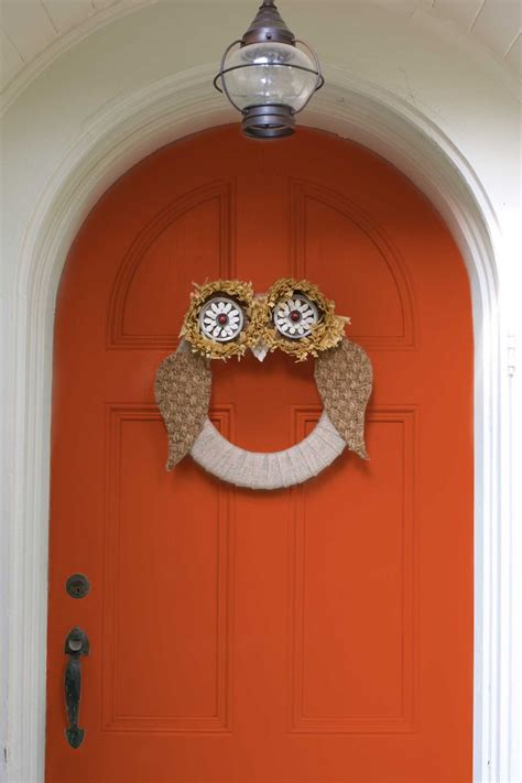 17 best ideas about owl wreaths on fall door