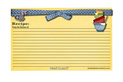 3 x 5 recipe card template word recipe cards pink polka dot creations