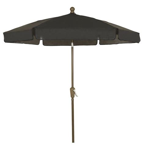 5 Ft Patio Umbrella Fiberbuilt Umbrellas 7 5 Ft Patio Umbrella In Black 7gcrcb T Bk The Home Depot