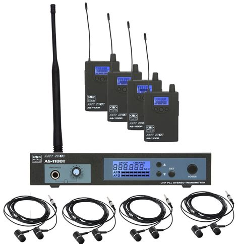 Ear Monitor galaxy monitor as 11004 in ear wireless band pack for four rainbow guitars