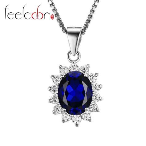 Blue Safir Sapphire 5 5ct 3 5ct blue sapphire pendant set solid genuine 925