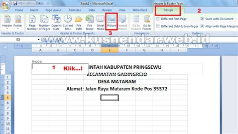 Buat Logo Di Kop Surat by Cara Membuat Kop Surat Di Excel Tutorial Bergambar