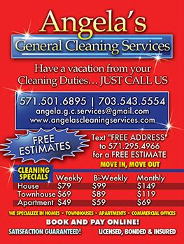 Maid Services House Cleaning Woodbridge Virginia Angelas