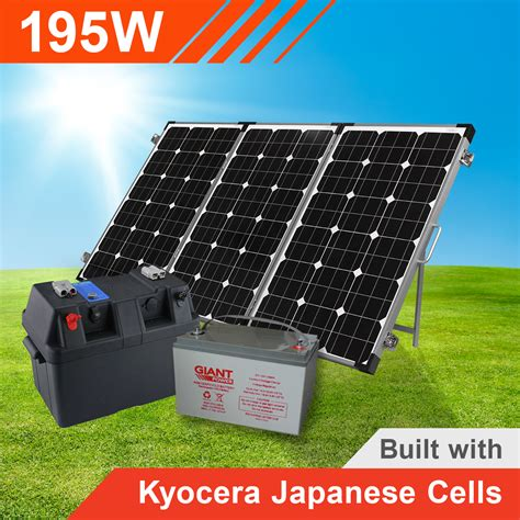 complete solar power kits for homes 195w complete portable solar kit with battery