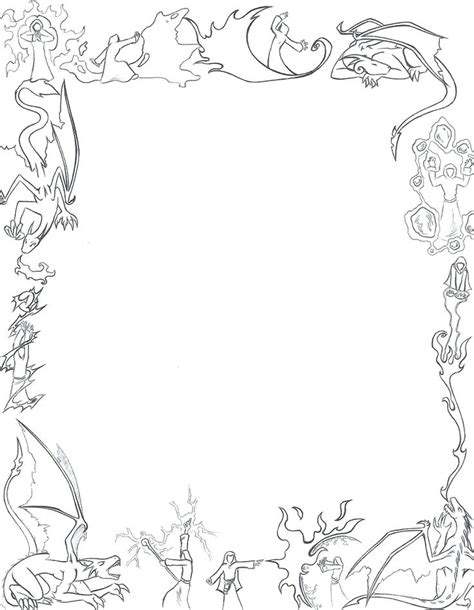 rose coloring pages border border coloring pages x rose border coloring pages
