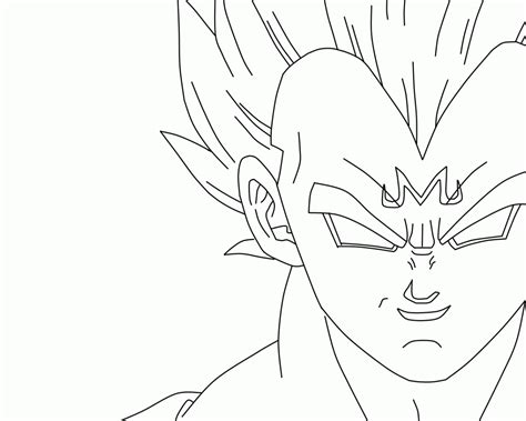 majin vegeta coloring pages www imgkid com the image