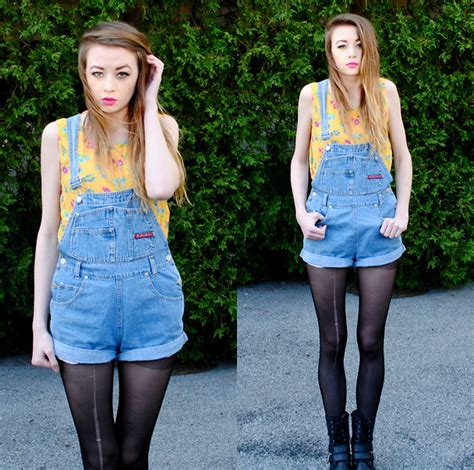 Megan Brigance   Thrifted Overalls   Just Be Simple   LOOKBOOK