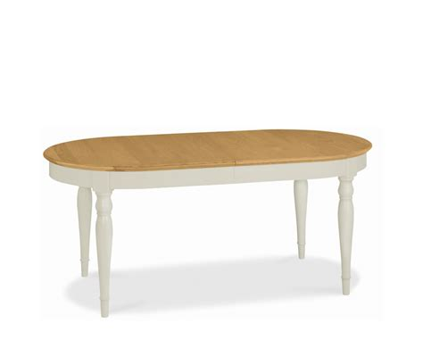 Oak Oval Dining Table Hstead Soft Grey And Oak Oval Extending Dining Table