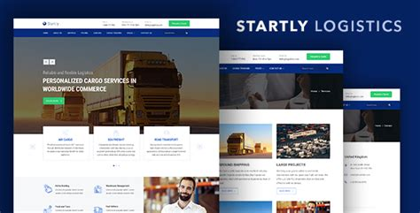 bootstrap templates for logistics start ly logistics cargo transportation website