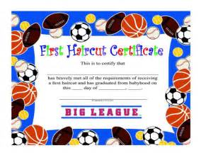 First haircut have certificate help you mark that special hairstyles
