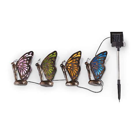 butterfly solar light castlecreek butterfly solar lights 233715 solar
