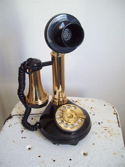 imagenes navideñas vintage vintage deco tel candlestick telephone rotary 1970s black and