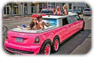 Pink Mini Cooper Limo Pink Mini Cooper Stretch Limo Yessssssss Pink