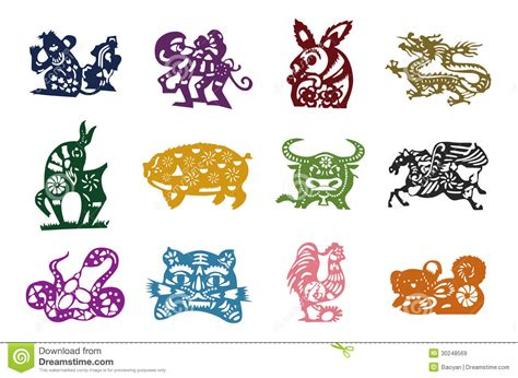 Calendrier Chinois Animaux Animaux De Calendrier Chinois Images Libres De Droits