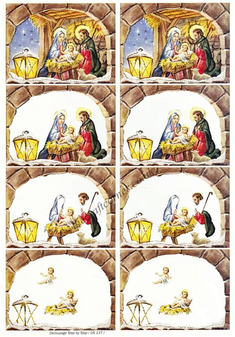 Decoupage 3d Pictures - nativity designs 3d decoupage sheet