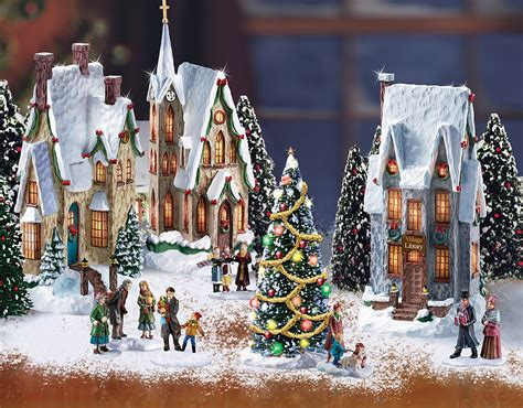 christmas village set 63 pieces jigsaw puzzle