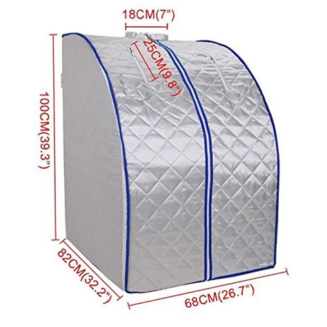 Far Infrared Portable Sauna Negative Ion Detox By Idealsauna by Galleon Ridgeyard Foldable Fir Far Infrared Portable