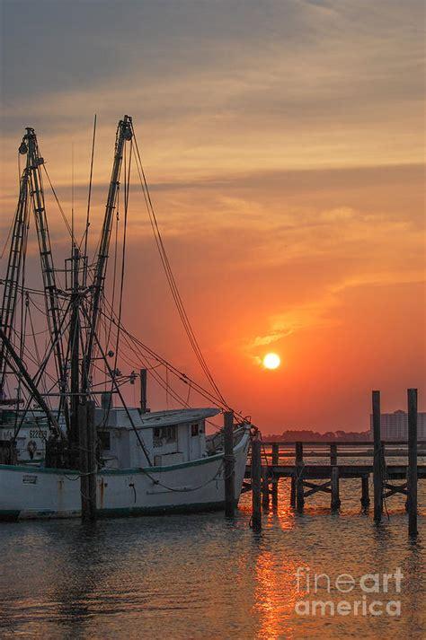shrimp boat on daytona beach shrimp boat at sunset photograph by debbie green
