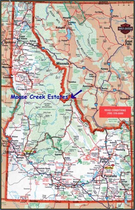 idaho montana map map of montana and idaho toursmaps